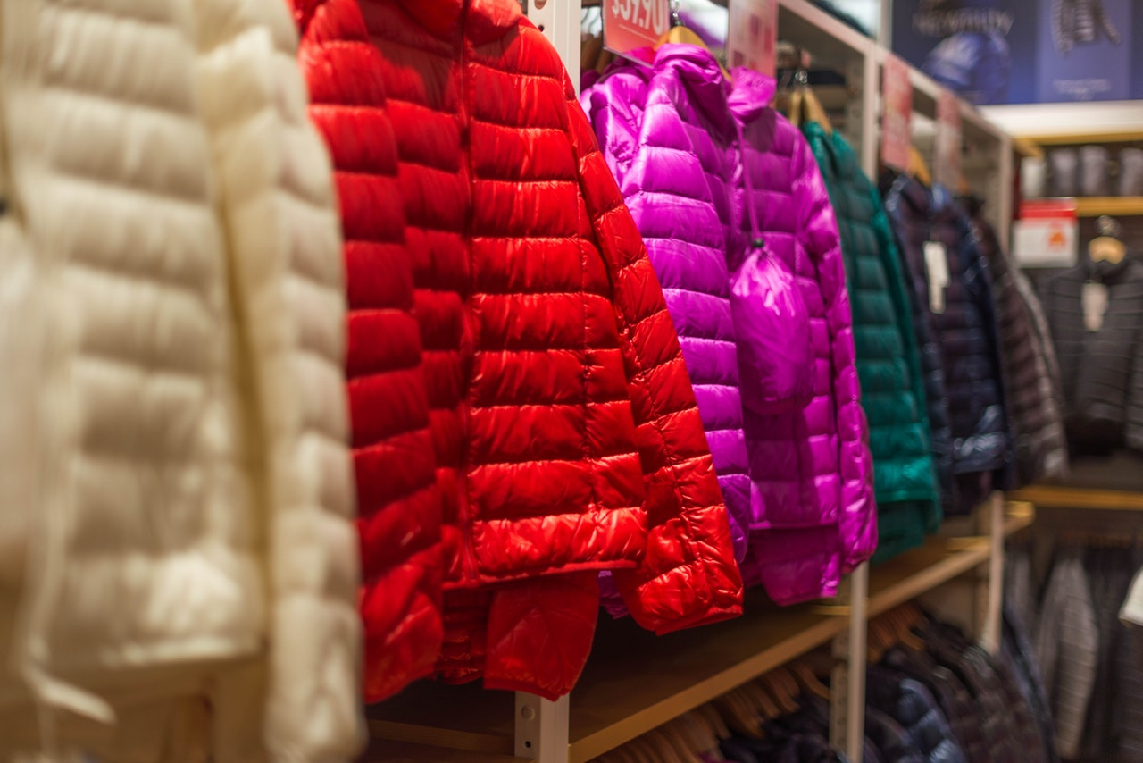 colorful puffy coats